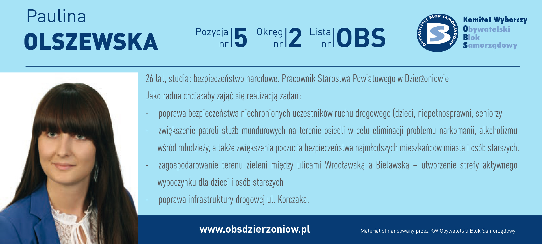 OBS Dzierżoniów ulotka DL okręg 2 Jabłońska Olszewska kopia