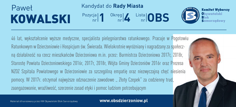 OBS Dzierżoniów ulotka DL okręg 4 Kowalski kopia