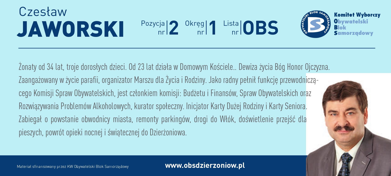 OBS Dzierżoniów ulotka DL okręg 1 Jaworski kopia