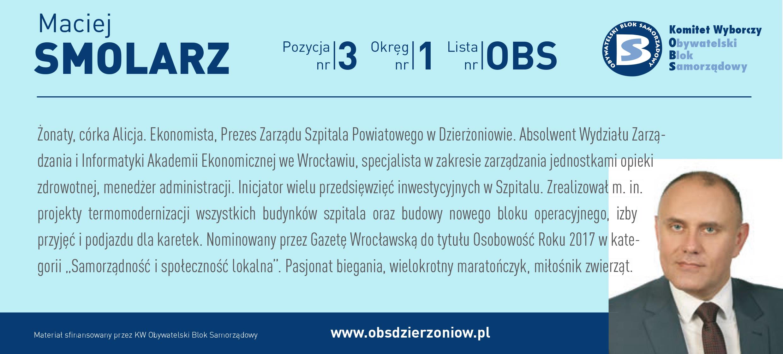 OBS Dzierżoniów ulotka DL okręg 1 Smolarz kopia
